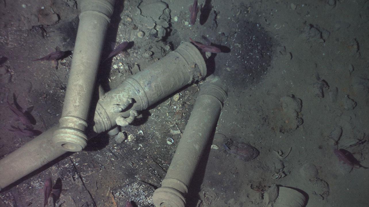 San Jose shipwreck cannons