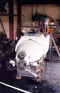 Alvin hangar at WHOI's Marine Facility