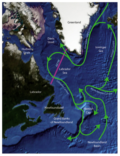 Labrador Sea Map