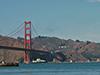 R/V Atlantis transits under the Golden Gate Bridge