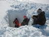 Arctic snow pit