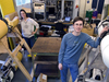 Nicole Nichols and Chris Murphy in Singh's lab