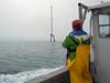 Met tower in Nantucket Sound