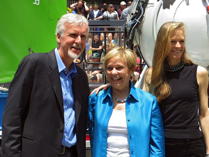 James and Suzy Cameron with Susan Avery