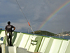 rainbow off the oceanus bow