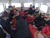 Driving slowly back to McMurdo Station in an oversized transport vehicle, everyone was tired.