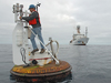 Jeff Lord servicing a WHOI ASIMET/Tsunami Buoy for the Chilean Navy