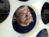 WHOI Machinist Dave Hamblin making polypropylene racks that will hold ceramic spheres in Nereus (HROV).