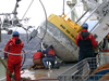 Buoy recovery operations on R/V Knorr.