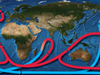 A global system of ocean circulation?often called the Great Ocean Conveyor.