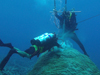 Drilling coral cores