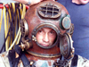 Diving safety officer Terry Rioux in navy