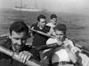 Men rowing