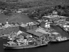 1965 aerial view of Woods Hole dock