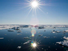 Sun finally shines up in the Arctic.