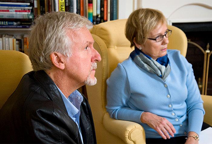 James Cameron and Susan Avery