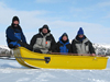 Eglinton and the rest of the science party on the Mackenzie River delta expedition.