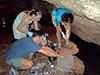 Cave water sampling