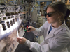 Kristin Smith, MIT/WHOI Joint Program Student, working in the NOSAMS laboratory