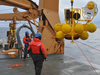 deployment of a winched profiler in the Beaufort Sea