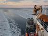 USCGC Healy Steams Through Pancake Ice