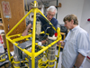 Fred Sayles and Bill Martin with Robotic Analyzer for Total CO2 in Seawater