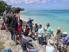 Bill Thompson in Barbados with Geodynamics Seminar students