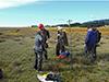 Sediment coring in Alaska