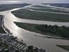 aerial of fraser river