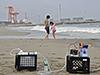 Groundwater sampling near Fukushima