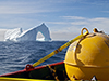 Mooring near an iceberg