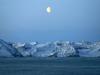 Moon Rising Over Greenland