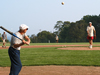 Joseph Keller and George Veronis from the GFD program, playing in the WHOI softball league.