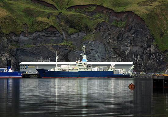 docked in Dutch Harbor, Alaska
