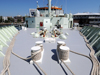 Looking aft from the bow on 01 level deck of R/V Knorr