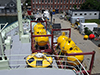 Equipment on Knorr's deck