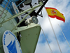 spanish flag flying on oceanus