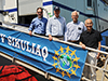 Visitors on the gangway of R/V Sikuliaq