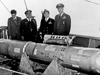 Officials posing with the recovered hydrogen bomb, 1966.