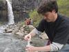 MIT/WHOI Joint Program student Christian Miller water sampling