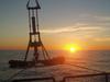 Evening instrumentation deployment off R/V Oceanus during cruise OC433.