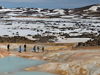 MIT/WHOI graduate students and faculty explored a bubbling, sulfur-encrusted hot spring in June of 2006