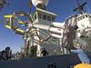 SPAR buoy being loaded onto R/V Atlantis for CLIMODE