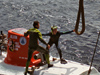 DSV Alvin retrieval at the stern of R/V Atlantis