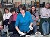 Meg Tivey with high school science teachers