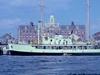 M/V Calypso at the WHOI dock, circa 1959.
