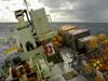 R/V Oceanus stern fully loaded for CLIMODE, 11/2005.