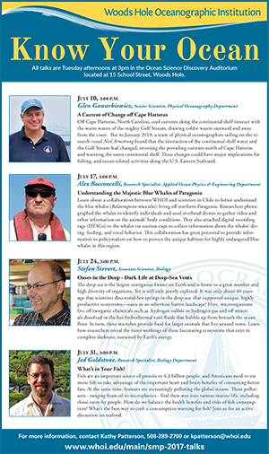 Know Your Oceans Science Talks