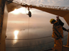 CTD cast in low Arctic light during 2005 Beaufort Gyre cruise