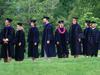 commencement line of grads